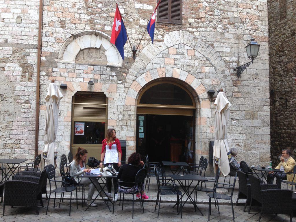 Street cafè in an ancient Italian city