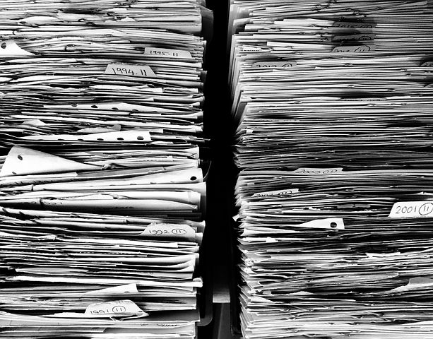 Bureaucracy - the heap of files is huge