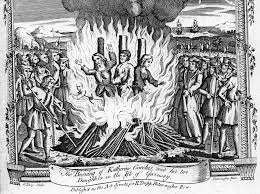 Heretics burning at the stake