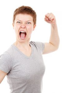 woman in anger