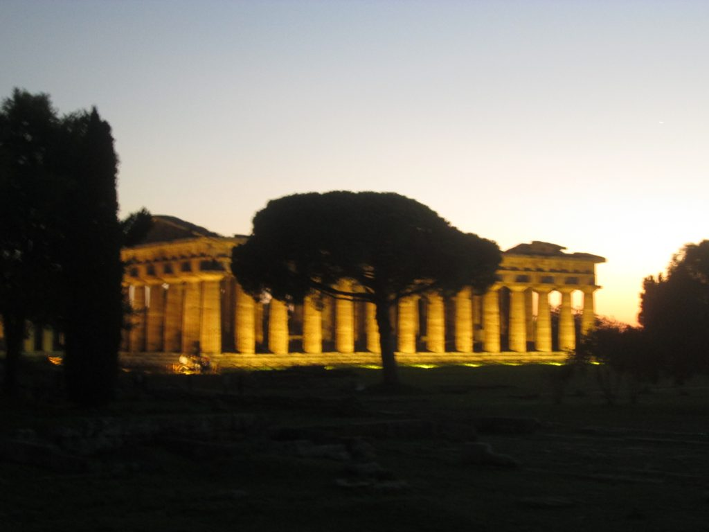 Temple in Paestum in Italy: a reminder of our history