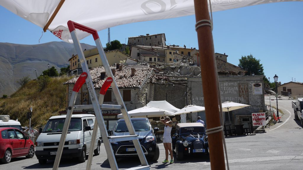 Castelluccio destroyed by the earthquake