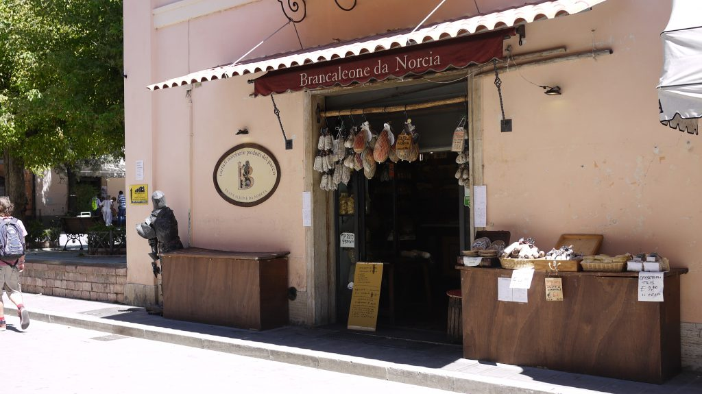 A working shop in Norcia