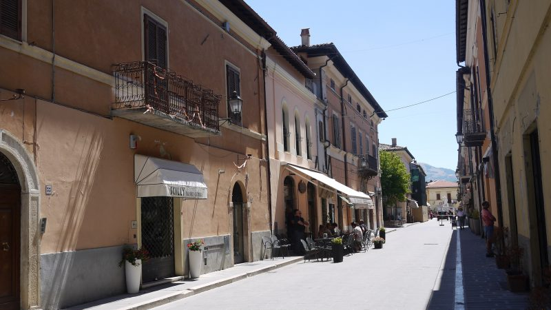 The empty streets of Norcia