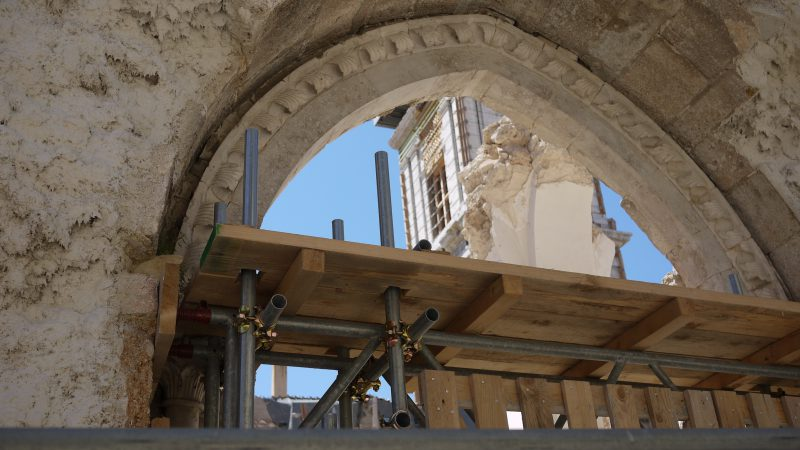 Santa Maria Argentea in Norcia - what is left...