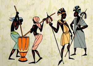 4 figures, tribal context